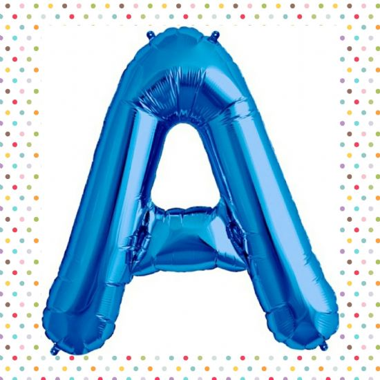 "North Star 34"" Blue Letter Foil Balloons"